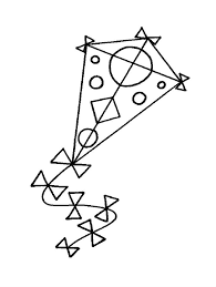 Kite Round And Triangle Images Coloring Pages For Kids Printable Kites