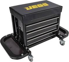 Amazon.com: JEGS Performance Products 81155 3 Drawer Tool Box Stool ...