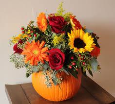 Fake Carvable Plastic Pumpkins by Pumpkin And Flower Centerpieces Our Gorgeous New Portfolio Book