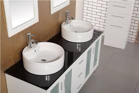 adorna 60 double vessel sink bathroom vanity set in white finish