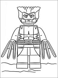 Lego Marvel Heroes Coloring Pages 8