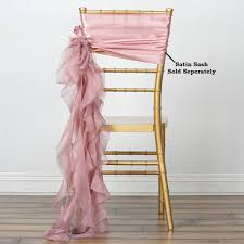 Dusty Rose CHIFFON Curly CHAIR SASH Wedding Party Decorations ... Buy Whosale Pack Of 100 Premium White Spandex Chair Covers Lavender Chiffon Curly Chair Sash Wedding Party Decorations Cover Sash Bands Lycra For Cheap For Events Crealive Plus Banquet Plum Fuzzy Fabric Sale Chair Cover Hire In West Drayton Hayes Hounslow Balloon And Ties Linen Seat And Sashes Black Purple Weddings Bridal Tablecloths And Runners Direct