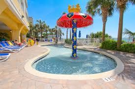 Oceanfront Kiddie Pool With Mushroom Fountain