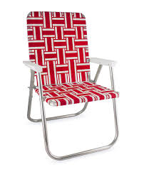 Red And White Stripe Classic Lawn Chair