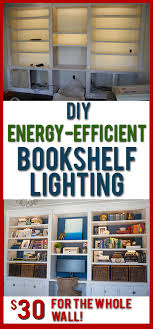 these diy lights for bookshelves or cabinets such soft