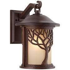 Bronze Mission Style Tree 15 High Outdoor Wall Light