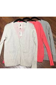 100 lightweight cotton button down cardigan coral