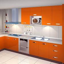 kinlo selbstklebende folie küche orange 61x500cm aus hochwertigem pvc küchenfolie klebefolie tapeten küche aufkleber küchenschränke wasserfest für