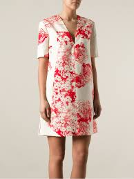 stella mccartney floral print dress in pink lyst