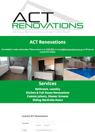 Kitchen Bathroom Renovations Canberra by Act Renovations Canberra Web