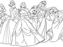 Coloring Pages Disney Princesses Page