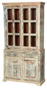 Breakfront Vs China Cabinet by Modern Decoration Hutch Cabinet White Washed Reclaimed Wood 78 5