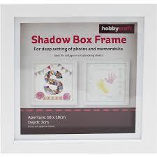 White Shadow Box Frame 18cm X 18cm