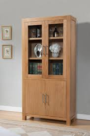 Small Oak Display Cabinet 68 With
