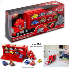 100 Cars Mack Truck Playset BNIB Disney Pixar Mini Racers Transporter Toys Games