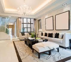 luxus wohnzimmer mit schönen dekoration