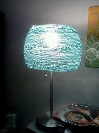 Adorable Lamp Shades DIY Diy Shade Crochet String And Glue Starch