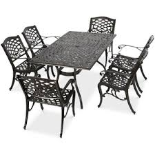 Grand Resort Patio Furniture by Grand Resort Wildwood 7pc Lp Fire Dining Set Outdoor Livin