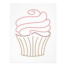 cupcake outline 8276 clipart