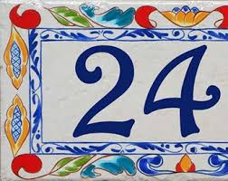 painted house number plaques door signs and by beachstudio7