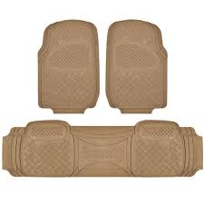 BDK All Weather MT-713 Beige Heavy Duty 3-Piece Car Or SUV Or Truck ...
