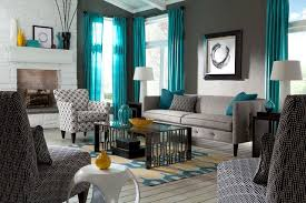 exquisite decoration gray and teal living room majestic design