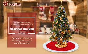 Christmas Tree Amazon Local by Amazon Com D Fantix 48 Inch Traditional Velvet Christmas Tree