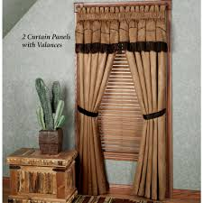 Lace Curtains Panels With Attached Valance by Easy Style Team Roping Panel With Attached Valance