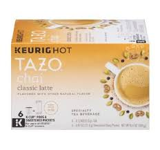 Tazo Chai Classic Latte Tea Keurig K Cups With Sweetener Packets 48 Count