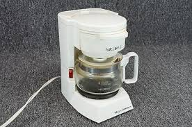 White 4 Cup Coffee Maker Mr Model Bl Whats And
