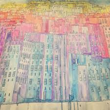 A Technicolor Cityscape In Japanese Watercolour Book Fantastic Cities By Steve McDonald