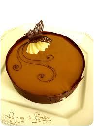 decoration patisserie en chocolat bavarois chocolat poires caramel au beurre salé au pays de