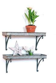 Decorative Metal Wall Shelves Shelf Inspiring Collections Rustic Look
