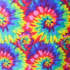 Amazon.com: Tie Dye Anti Pill Plaid Fleece Fabric, 60