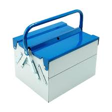 Blue Tool Box Compact Design Store In Color Point 18 Plastic ...