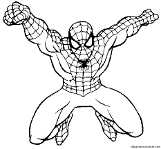 Spiderman Color Pages Printable Archives And Coloring Pdf
