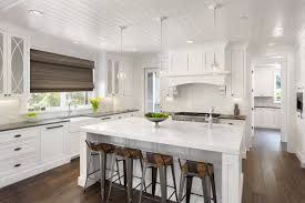 Woven Wood Shades In An Eat Kitchen