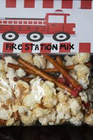 100 Snack Truck Fire Truck Party Snack Mixpretzels Sticks Dipped In Red Chocolate