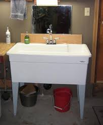 Mustee Mop Sink Faucet by Bigtub Utilatub Combo 40 In X 24 In Polypropylene Single Floor