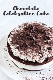 schokoladenkuchen mit puffreis und nugatglasur oliver