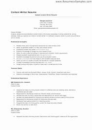 Sample Freelance Resume Emails Best Of Writer Template Service