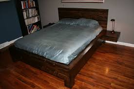 How To Build A King Platform Bed With Drawers by Homemade Beds