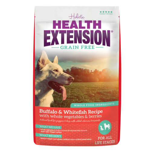 Health Extension Grain Free Little Bites Recipe Dry Dog Food - Buffalo and Whitefish, 1lb