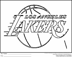 Basketball Teams Coloring Pages Getcoloringpages Within Nba Logo To Encourage Color Page
