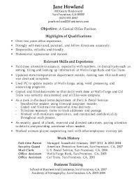 Sample Resume Office Clerk Clerical Work Best Administrative Assistant Resumes