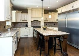 White Kitchens Dark Floors Kitchen With Raised Panel Antique Cabinets Wood And Rustic