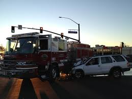 Fire Truck Hit After SUV Runs Red Light | FOX40