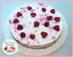 philadelphia himbeer torte mit keksboden no bake cake