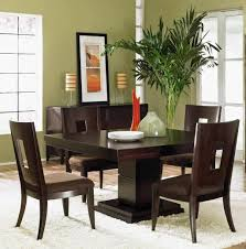 Espresso Low Dining Room Chairs With Square Table