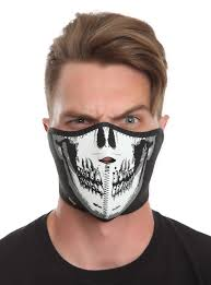 Halloween Half Masks by Skull Glow In The Dark Neoprene Half Face Mask Topic Quick